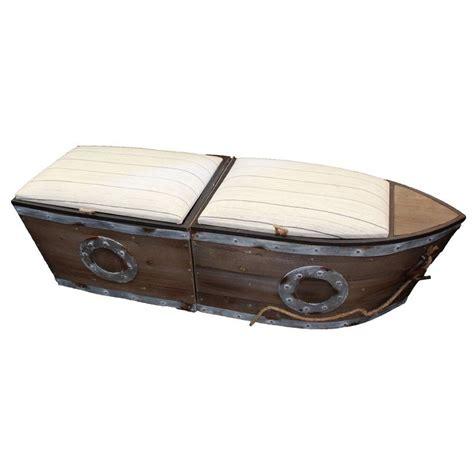 Bublitz Boat Wood Storage Bench (Set of 2)