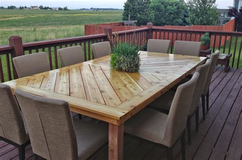 build your own porch table