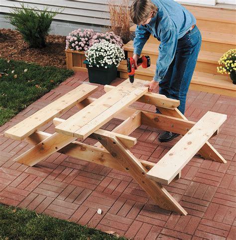 Build A Kids Picnic Table