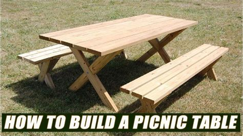 Build A Picnic Table Bench