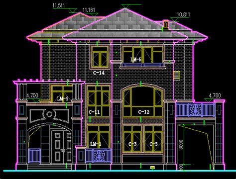 building plan drawing autocad
