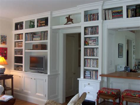 Built In Bookcase Cabinet Plans