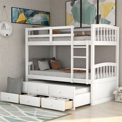 Bunk Bed Plans with Drawers
