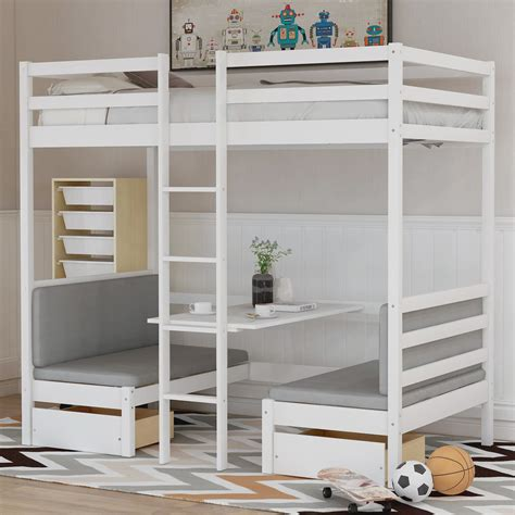Bunk Bed With Drawers And Desk