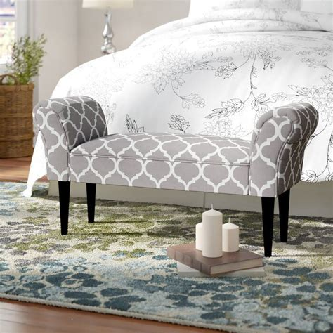 Busby Vanity Arm Upholstered Bench