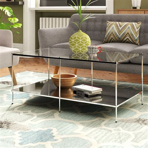 Busey Glam Mirrored End Table