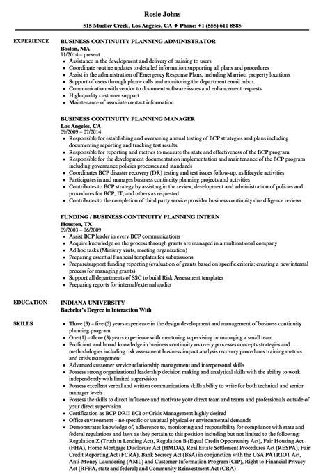 Business Continuity Plan Sample For Bpo 4 Bpo Resume For Freshers Careerride