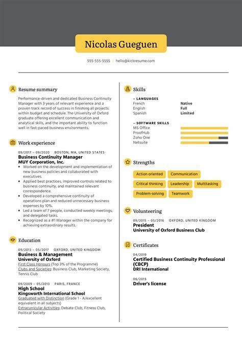 Business Continuity Plan Sample For Bpo Sample Cv For Bpo Jobs Cv Formats Templates