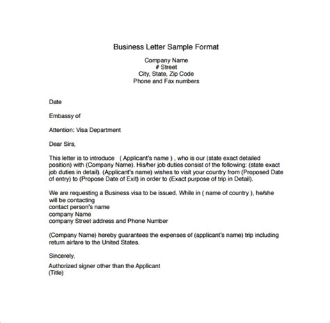 Business Correspondence Cover Letter Examples Business Letter Format