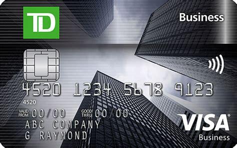 Business Credit Card Td Get A Td Aeroplan Visa Business Card Td Canada Trust