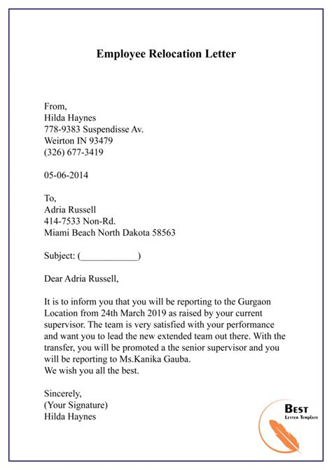 Business Letter Template Offer Employment Letter Template Job Offer Letter Template