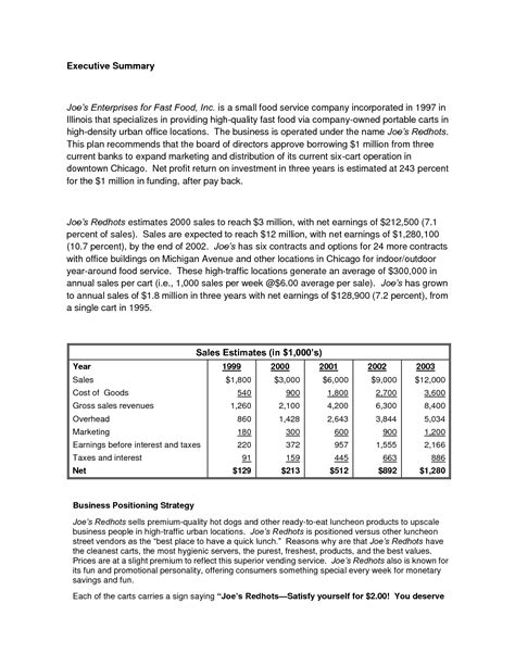 Business Plan Sample About Fashion A Sample Business Plan Jaxworks