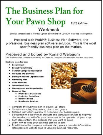 Business Plan Sample Computer Shop A Sample Pawn Shop Business Plan Template