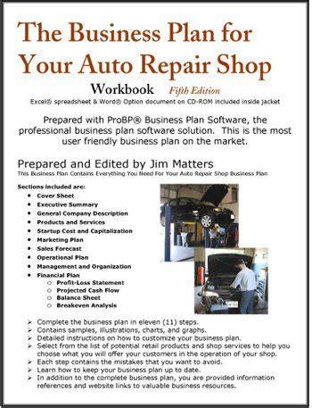 Business Plan Sample Computer Shop Auto Repair Shop Business Plan Sample Services Bplans