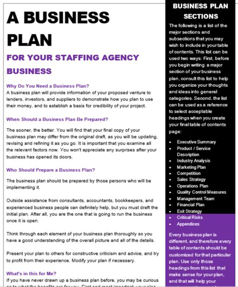 Business Proposal Template Recruitment Agency Employment Agency Business Plan Sample Executive Summary