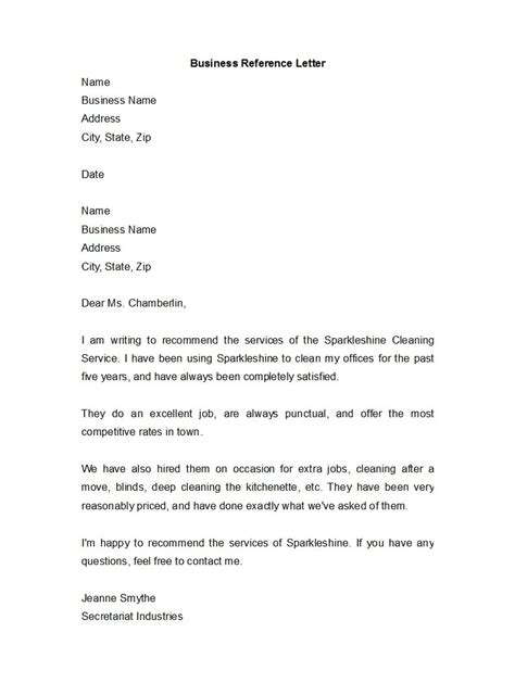 Business Reference Letter Format Example Business Letter Format