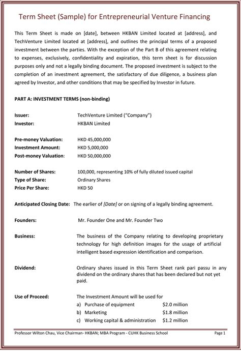 business valuation engagement letter template sample term sheet and letter of intent template