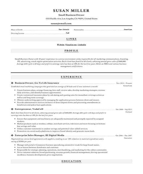 businessman resume best resume format for btech freshers