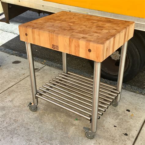 Butcher Block Table On Wheels