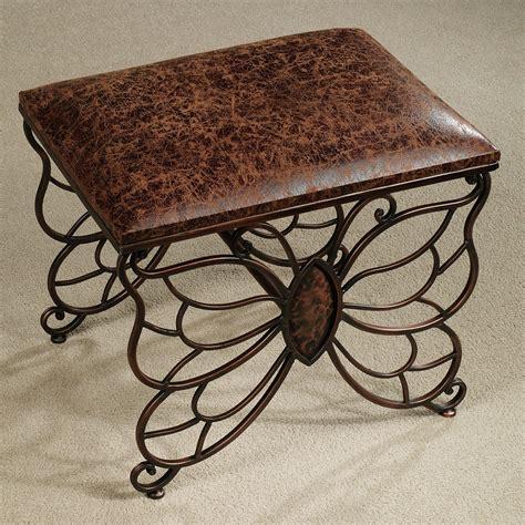 Butterfly Upholstered Vanity Stool