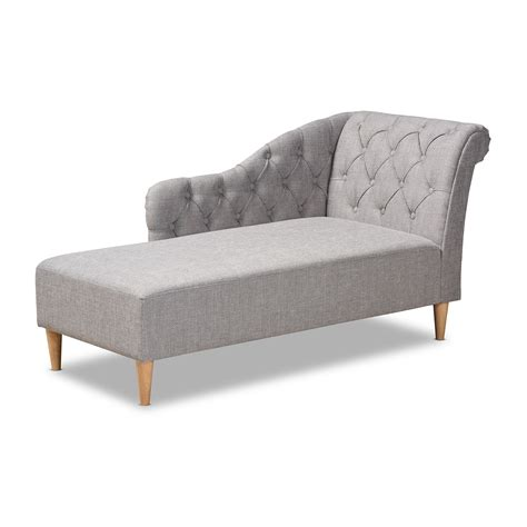 Button Tufted Chaise Lounge  Ebay.