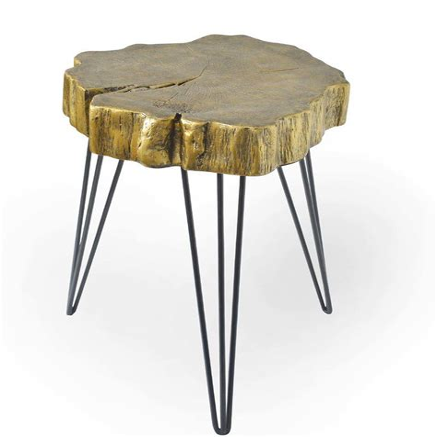 Buzzard Rustic Crosscut Treed Table
