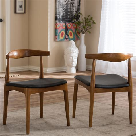 Bynum Mid-Century Solid Wood Dining Chair
