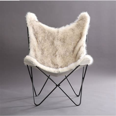 Byram Butterfly Faux Fur Cover Lounge Chair
