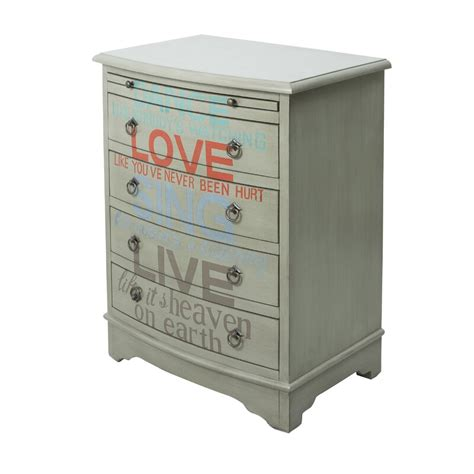 Byram Words of Wisdom 4 Drawer Accent Chest