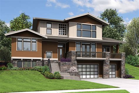 Cabin Plans With Garage Underneath