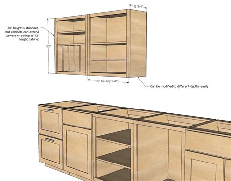 Cabinet Building Plans Kitchen
