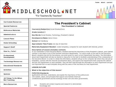 Cabinet Lesson Plans