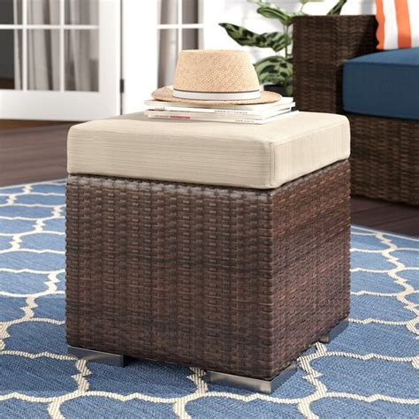 Cabral Ottoman with Cushion