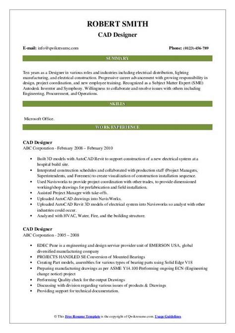 sample resume for boiler engineer cad designer resume sample two design resume - Boiler Engineer Sample Resume