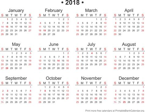 powerpoint calendar template 2018