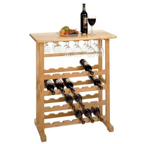 Calfee 24 Bottle Floor Wine Bottle Rac by