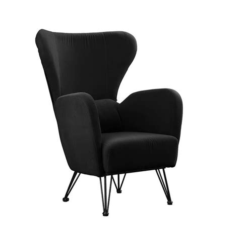 Calhoon Velvet Shelter Wingback Chair