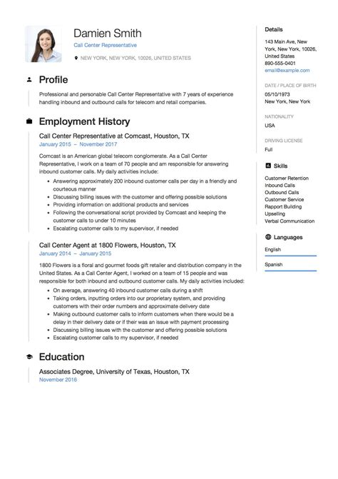 Call Center Resume Format Doc It Fresher Resume Format In Word Blogspot