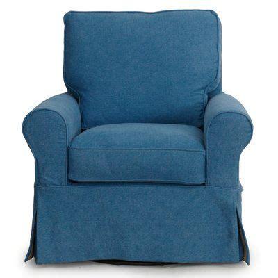 Callie Slipcovered Swivel Armchair
