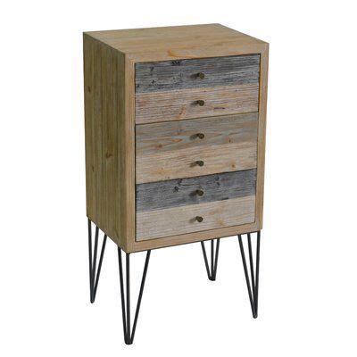 Callisto Wooden Plank 3 Drawer Accent Chest