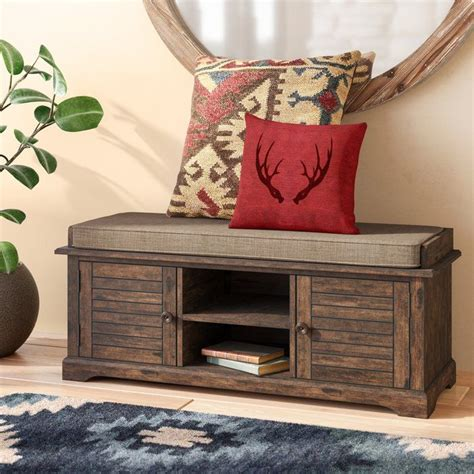 Camille Canton Wood Entryway Storage Bench