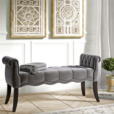 Campbell Roll Arm Upholstered Bench