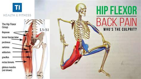 can a hip flexor cause back pain
