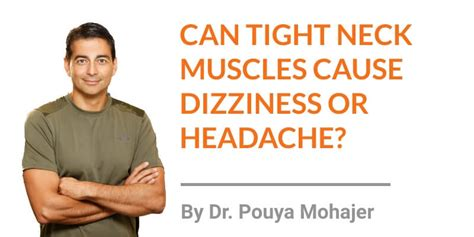 can tight muscles in the neck cause dizziness