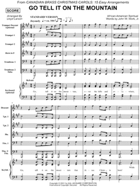 Brass Canadian Brass Sheet Music Free.