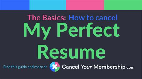 my perfect resume how to cancel account cancel my perfect resume subscription search