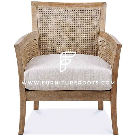 Caned Back Occasional Lounge Chair