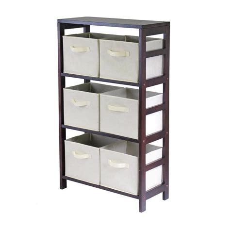 Capri 6 Drawers Storage Shelf