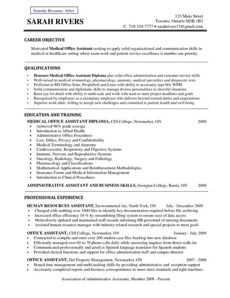 career objective for medical administrative assistant medical administrative assistant healthcare resume search administrative assistant resume