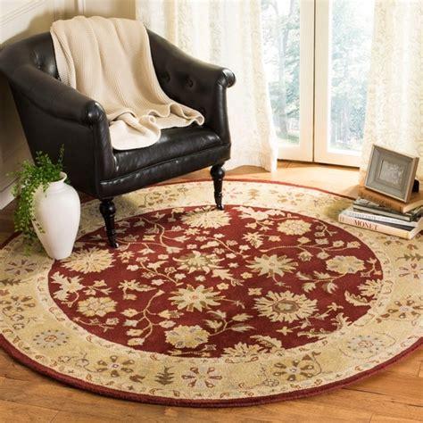 Carlene Traditional Wool Black/Beige/Burgundy Area Ru by